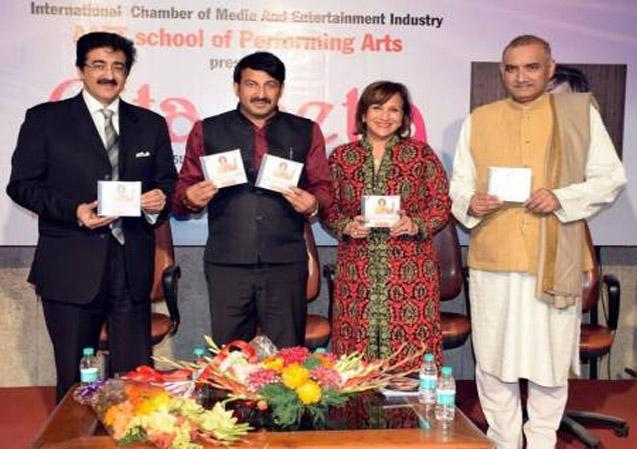 Music CD Released by Manoj Tewari at Marwah Studio