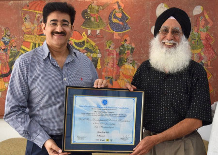 Sandeep Marwah With Dr. Steve Bedi From USA