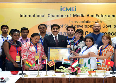 Sandeep Marwah Honored With Tittle World Cultural Minister